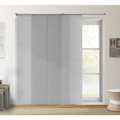 Adjustable Sliding Panel / Cut to Length, Curtain Drape Vertical Blind, Light Filtering, Privacy - Daily Grey
