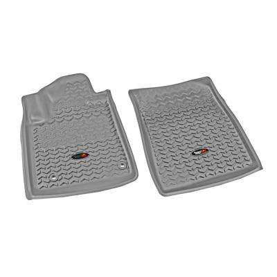 Floor Liner Front Pair Gray 2012-2013 Toyota Tundra and Sequoia