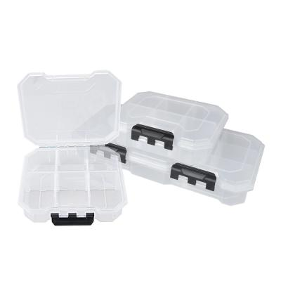 25-Compartments Small Parts Organizer Storage Bin Set, Clear and Black (3-Piece)