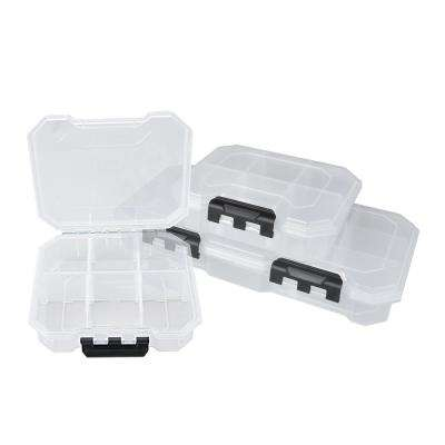 25-Compartments Small Parts Organizer Storage Bin Set, Clear and Black