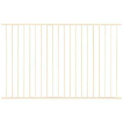 Pro Series 4.84 ft. H x 7.75 ft. W Navajo White Steel Fence Panel