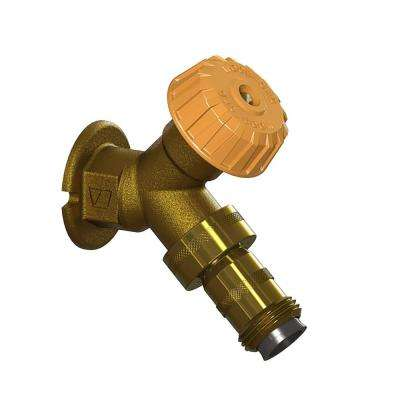1/2 in. x FPT Mild Climate Brass Wall Hydrant with Double-Check Backflow Preventer