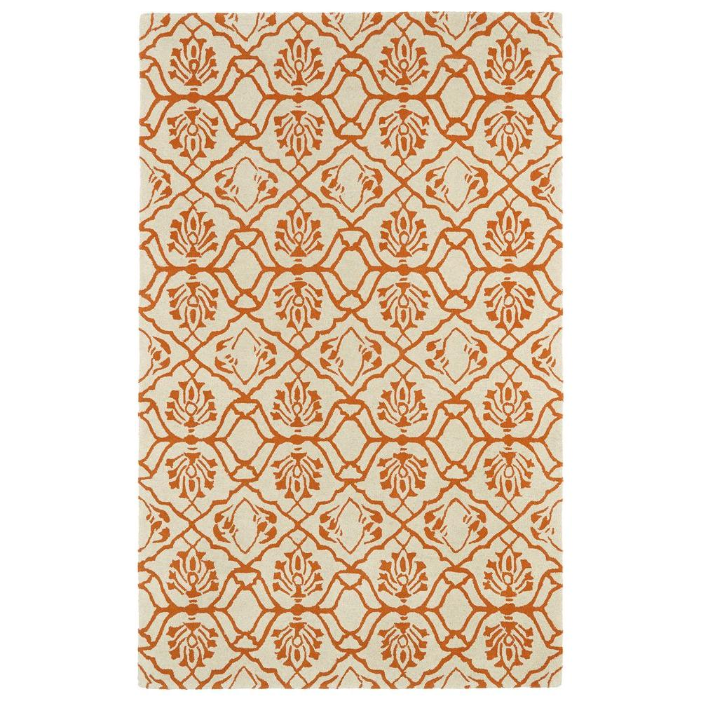 Kaleen Evolution Orange 9 ft. 6 in. x 13 ft. Area Rug