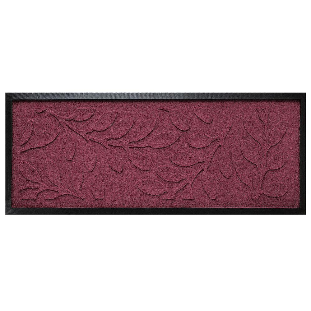 aqua shield bordeaux 15 in x 36 in brittany leaf boot tray 20516601536 the home depot. Black Bedroom Furniture Sets. Home Design Ideas