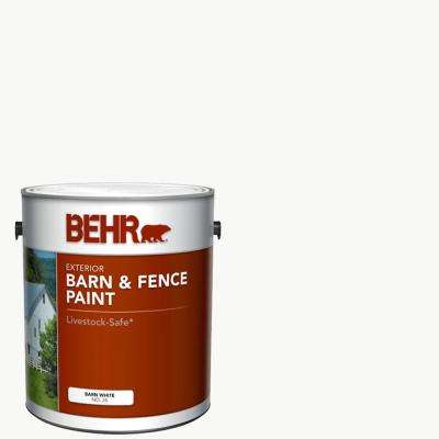 1 Gal. White Exterior Barn and Fence Paint