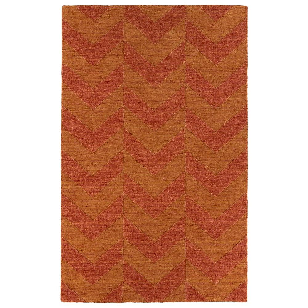 Kaleen Imprints Modern Paprika 9 ft. 6 in. x 13 ft. 6 in. Area Rug