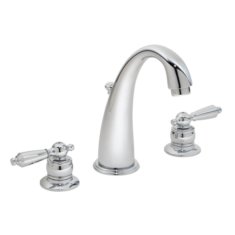 Symmons Origins 8 in. Widespread 2-Handle Bathroom Faucet with Drain ...