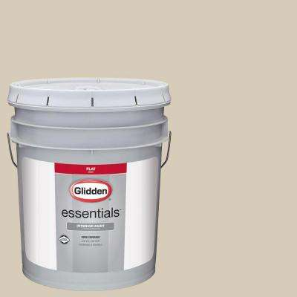 5 gal. #HDGWN28 Natural Linen Flat Interior Paint