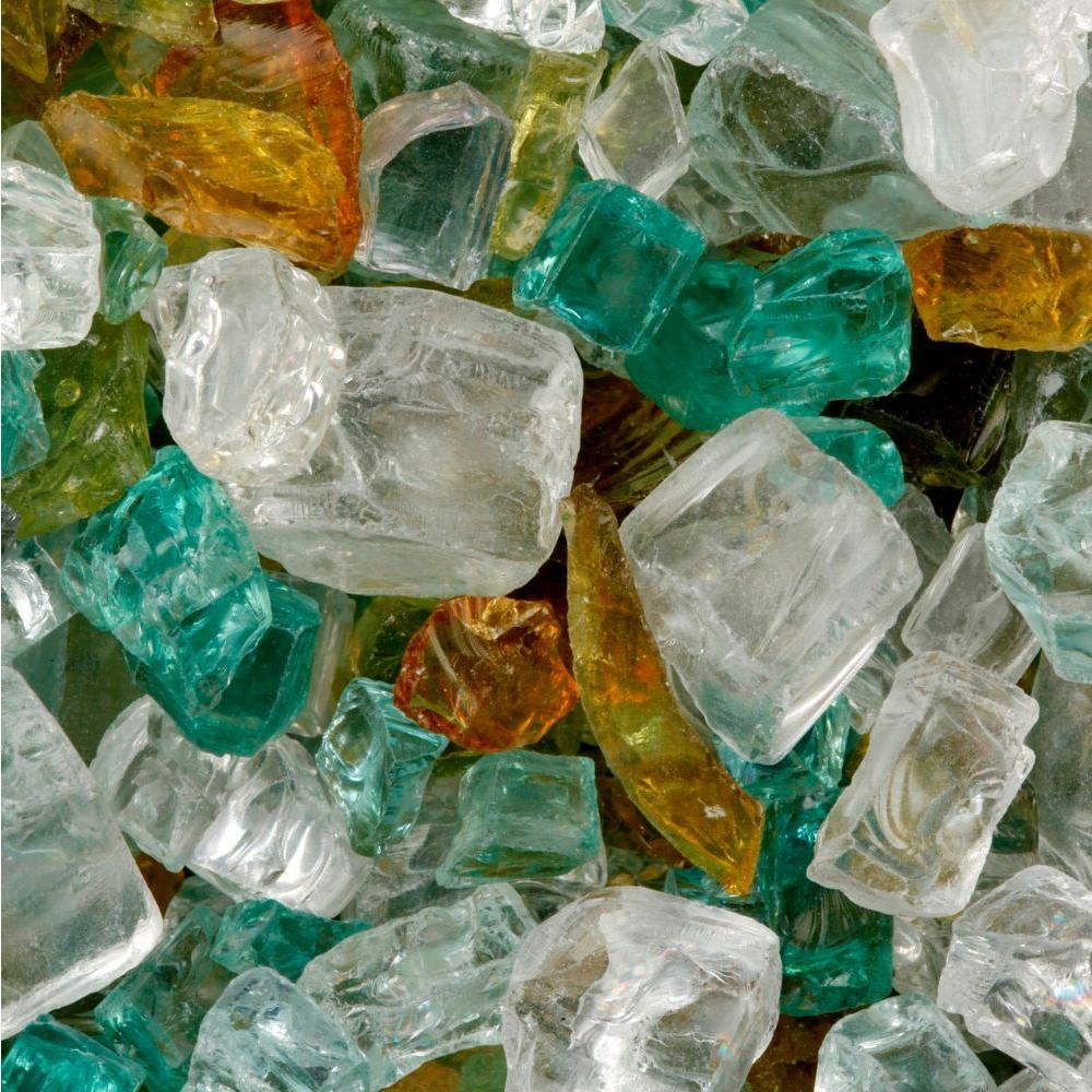 FireCrystals 30 lbs. Mediterranean Isle Fire Glass Value Pak