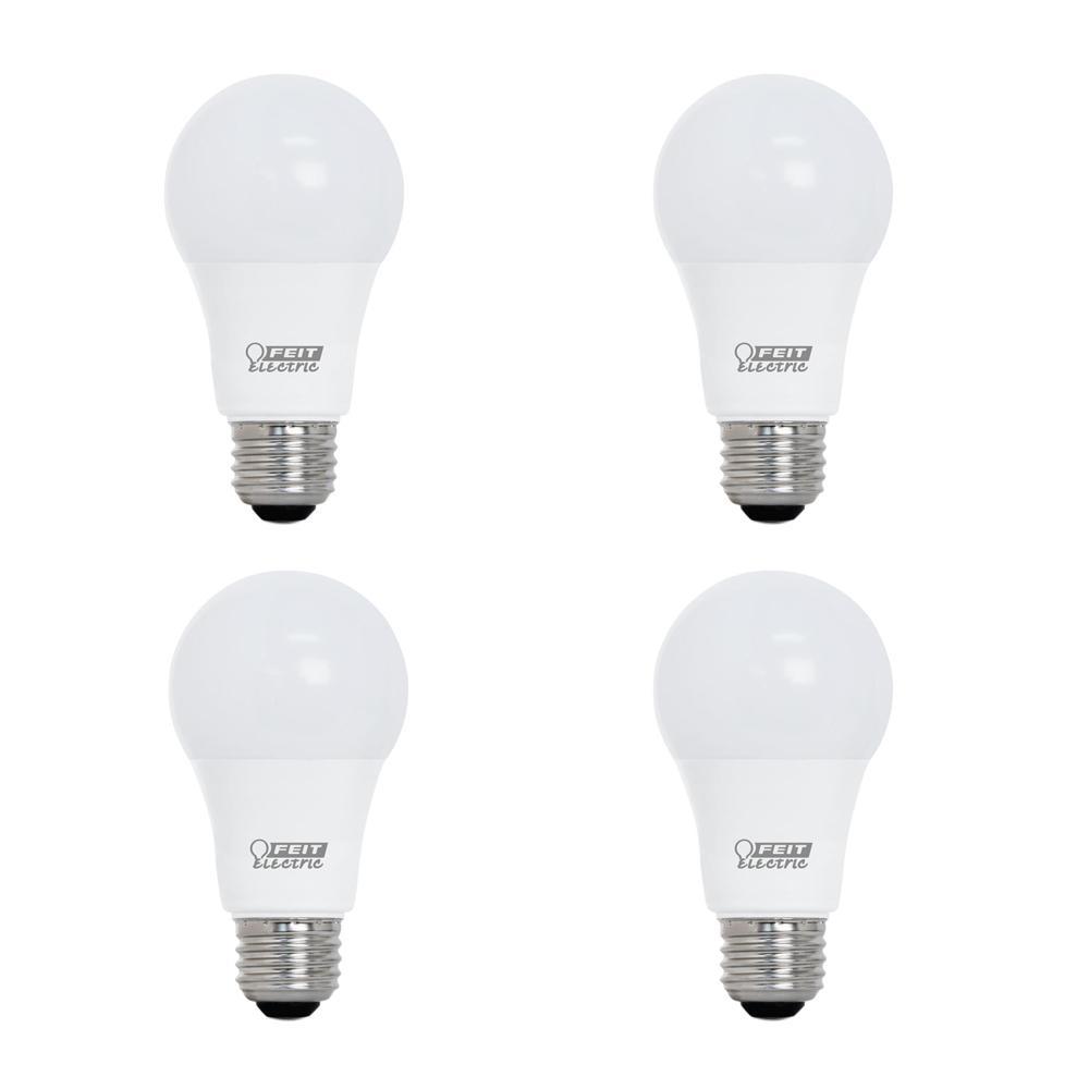 40-Watt Equivalent A19 Dimmable CEC Title 24 Compliant LED ENERGY STAR 90+ CRI Light Bulb, Soft White (4-Pack)
