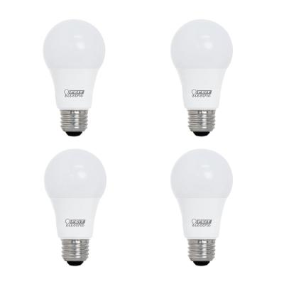 40-Watt Equivalent A19 Dimmable CEC Title 24 Compliant LED ENERGY STAR 90+ CRI Light Bulb, Soft White (4-Pack)