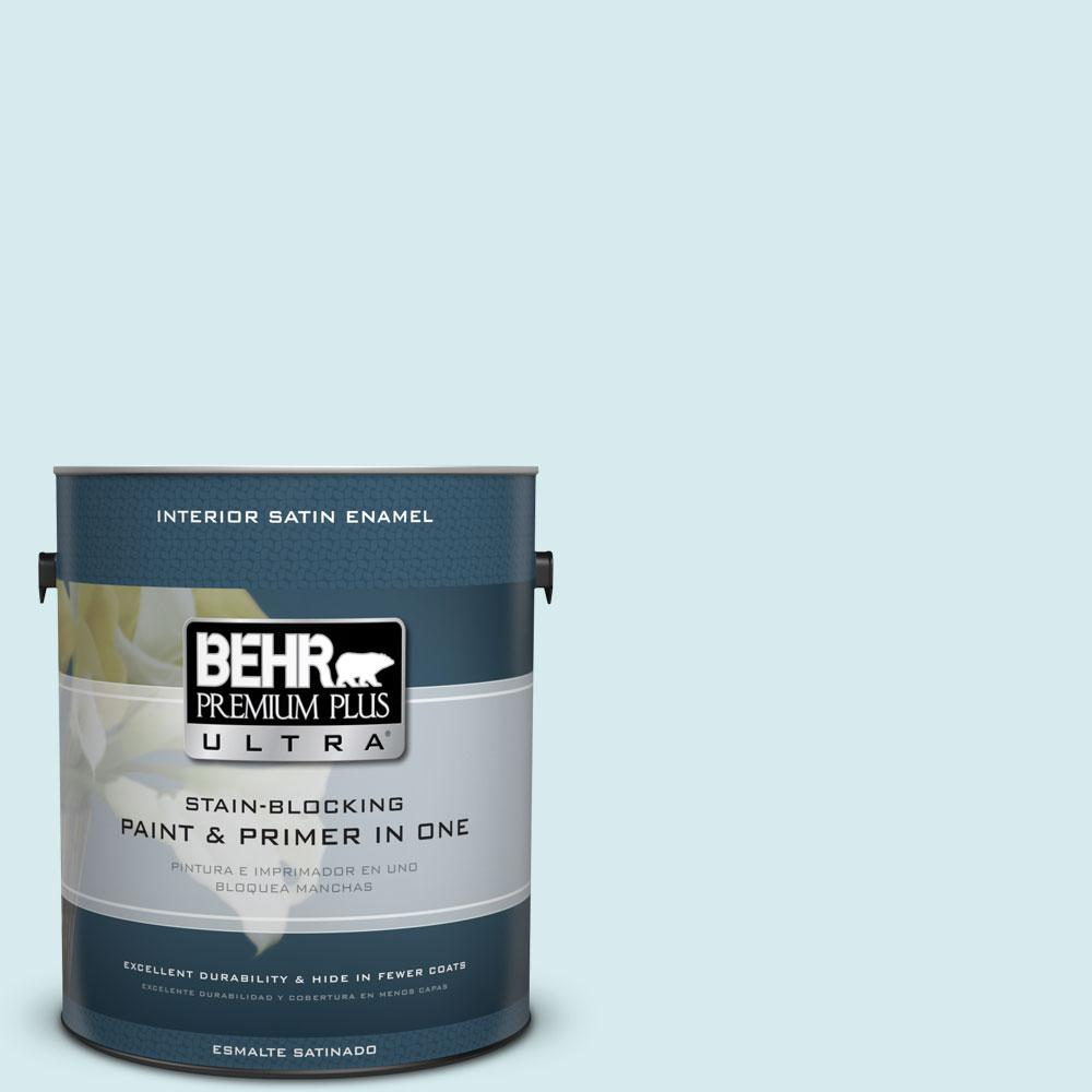 BEHR Premium Plus Ultra Home Decorators Collection 1-gal. #HDC-MD-23 Ice Mist Satin Enamel Interior Paint