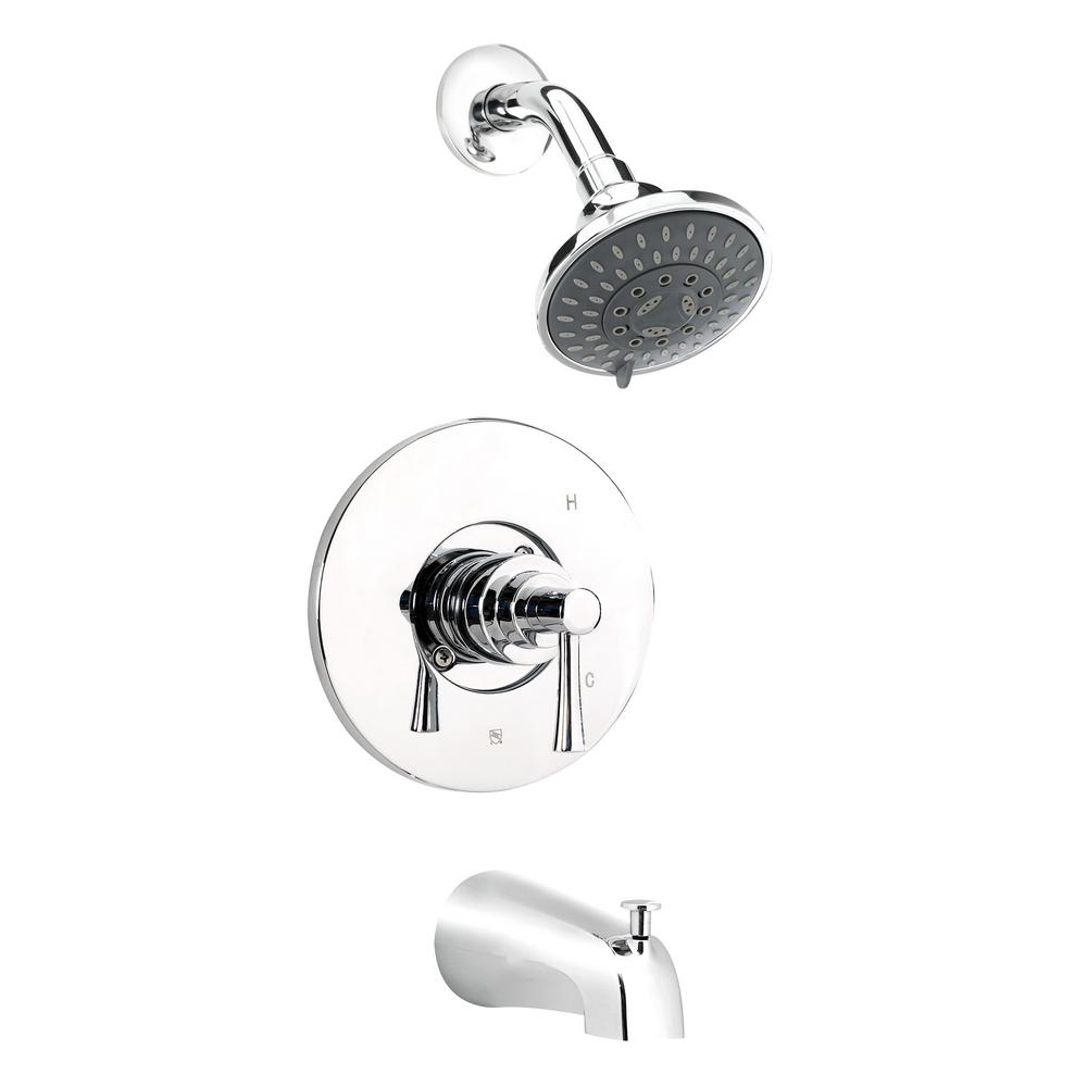 Belanger Single-Handle 5-Spray Tub and Shower Faucet in Polished Chrome (Valve