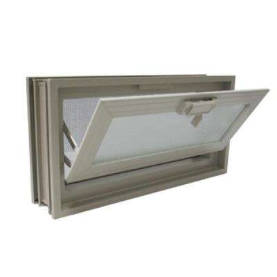 16 in. x 8 in. Hopper Vent in Clay for 3 in. Glass Block Applications