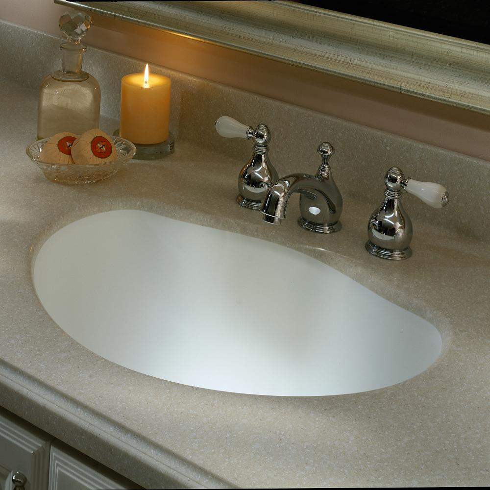 Home Depot Bathroom Countertops | Corian 2 In X 2 In Solid Surface Countertop Sample In Savannah