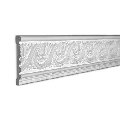 7-1/16 in. x 1 in. x 96 in. Leaf Scroll Polyurethane Frieze Moulding Pro Pack 16 LF (2-Pack)