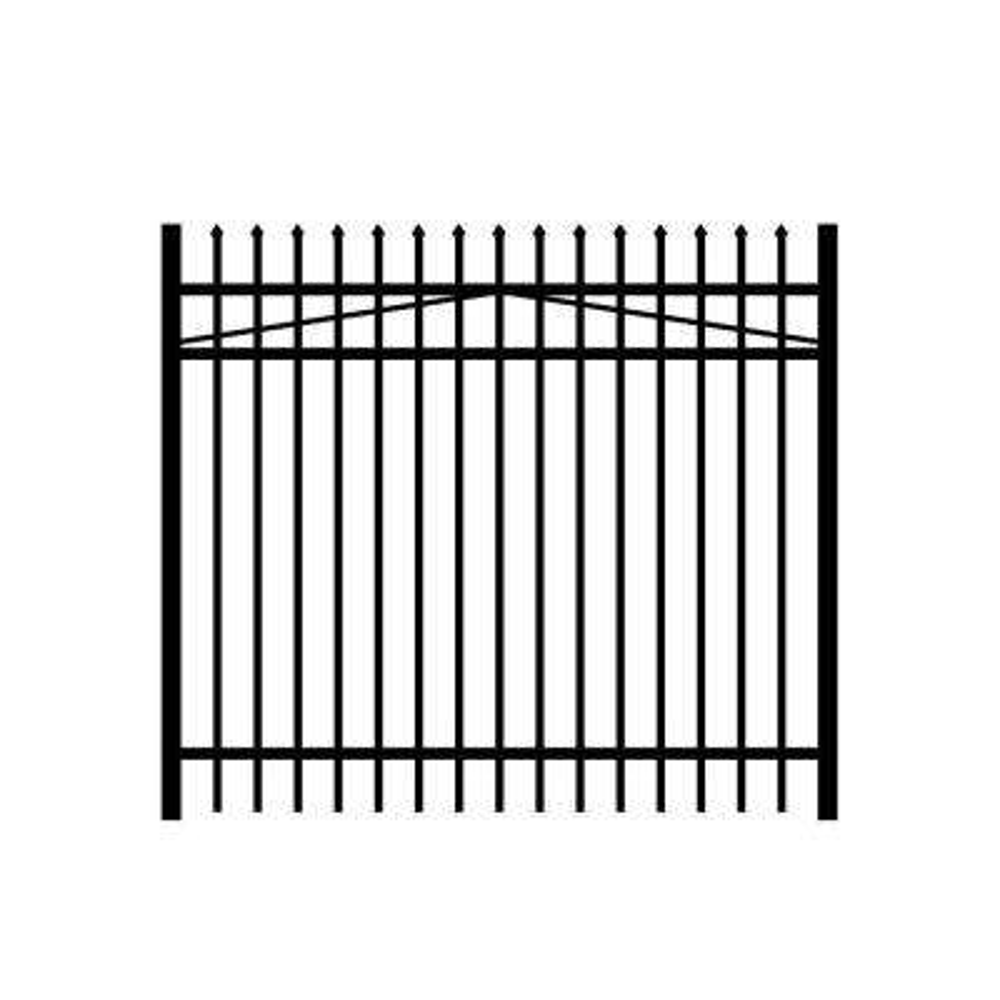 Washington 6 ft. W x 5 ft. H Black Aluminum 3-Rail Fence Gate
