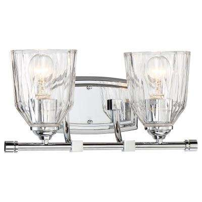 D'or 2-Light Chrome Bath Light