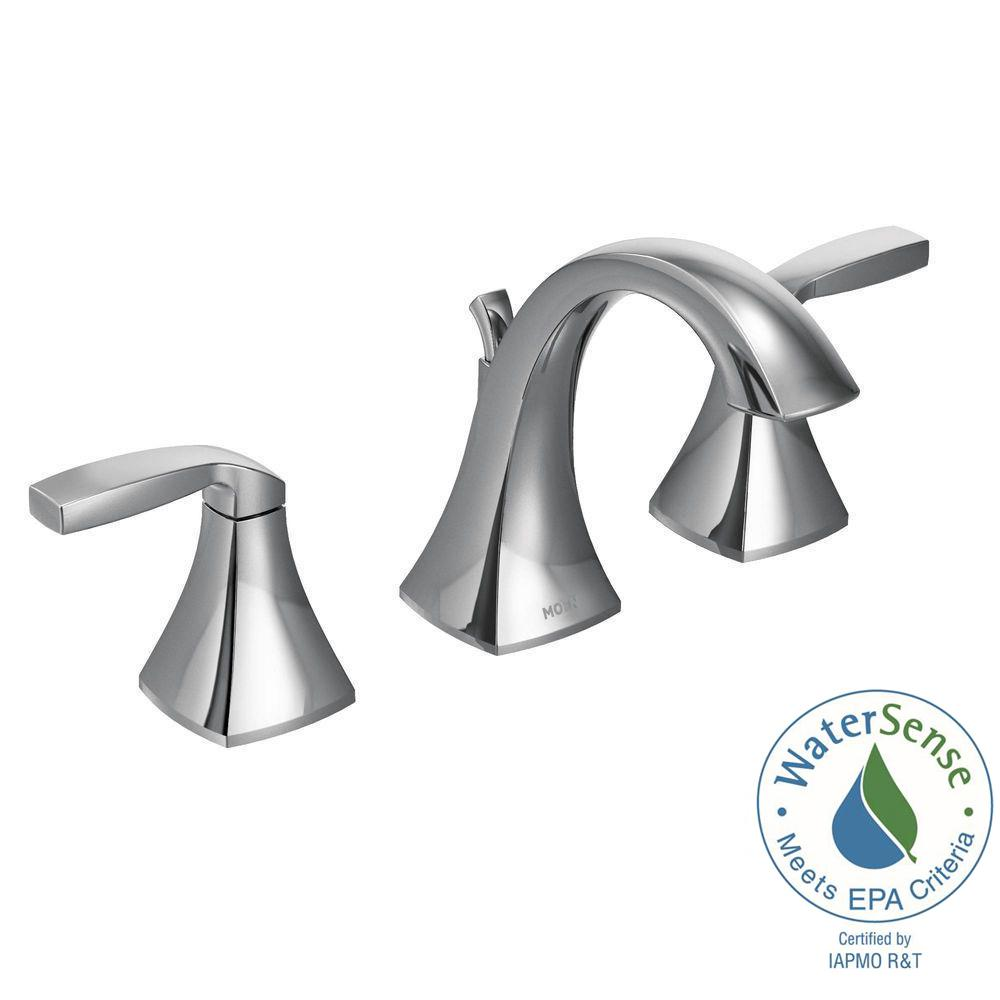 MOEN Voss 8 in. Widespread 2-Handle High-Arc Bathroom Faucet Trim ...