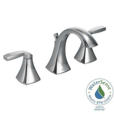 Voss 8 in. Widespread 2-Handle High-Arc Bathroom Faucet Trim Kit in Chrome (Valve Not Included)