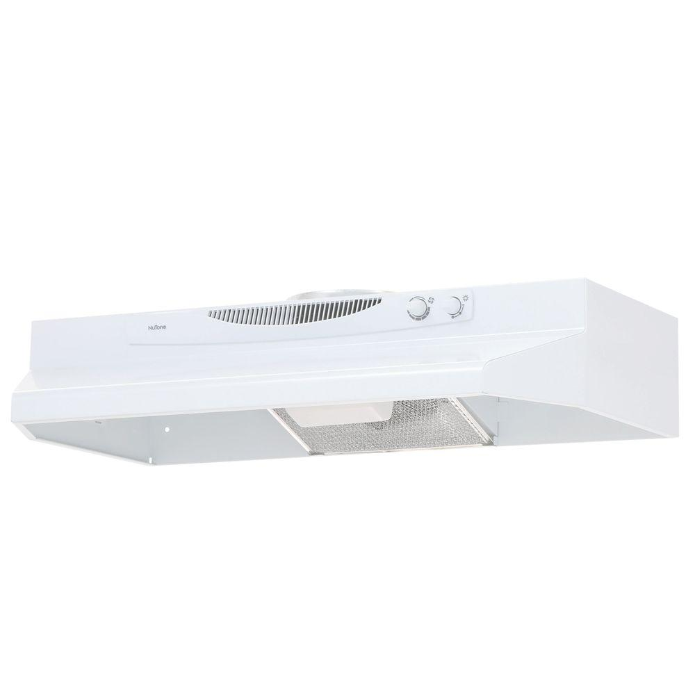 Convertible Under Cabinet Range Hood With Light In White