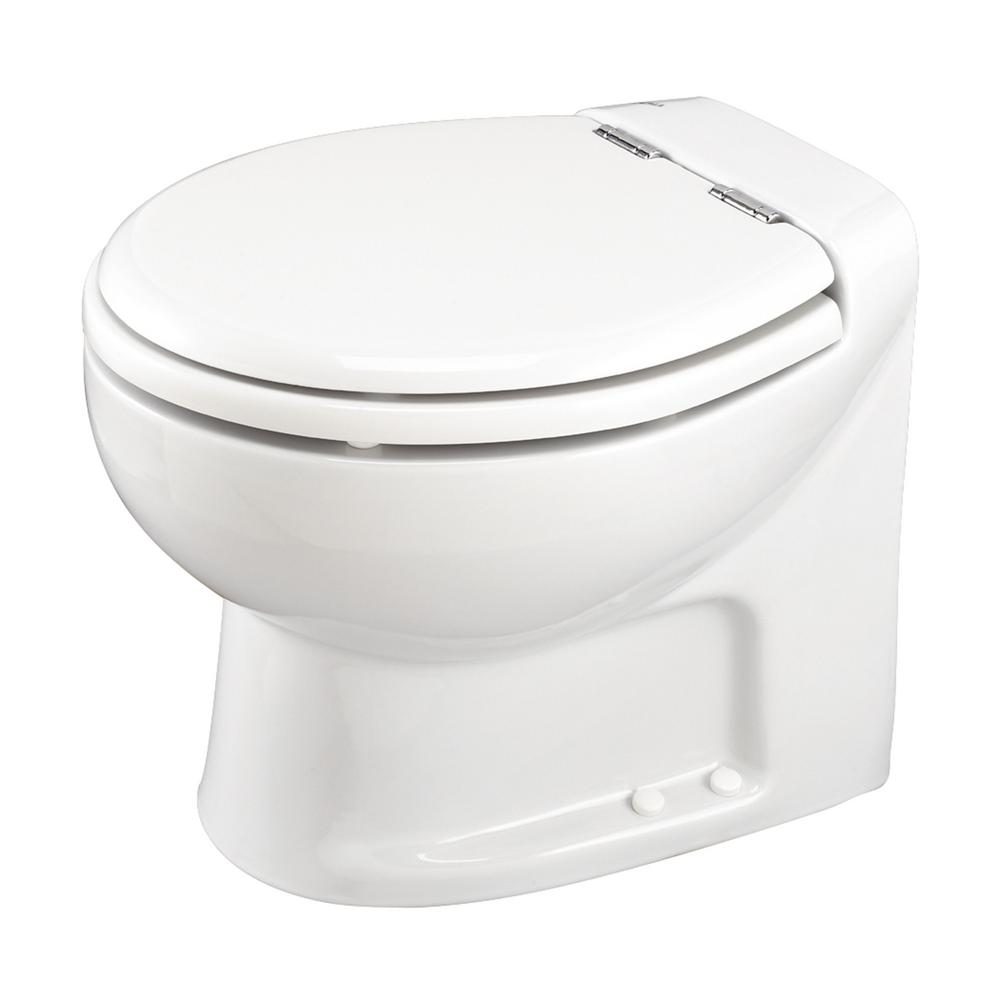 Thetford tecma silence plus 2 mode 12 volt rv toilet with electric solenoid low in white chrome for Thetford bathroom anywhere reviews