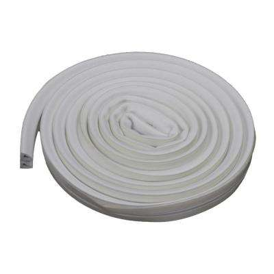 3/8 in. x 17 ft. White Silicone/Rubber Lifetime Weatherstrip for Extra Large Gaps
