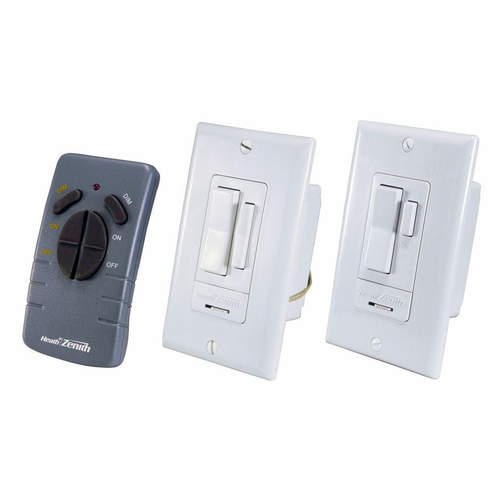 Heath Zenith Indoor 3-Way Wall Switch Control - White -DISCONTINUED