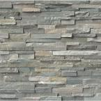 Sierra Blue Mini Ledger Panel 4.5 in. x 16 in. Natural Quartzite Wall Tile (5 sq. ft. /case)