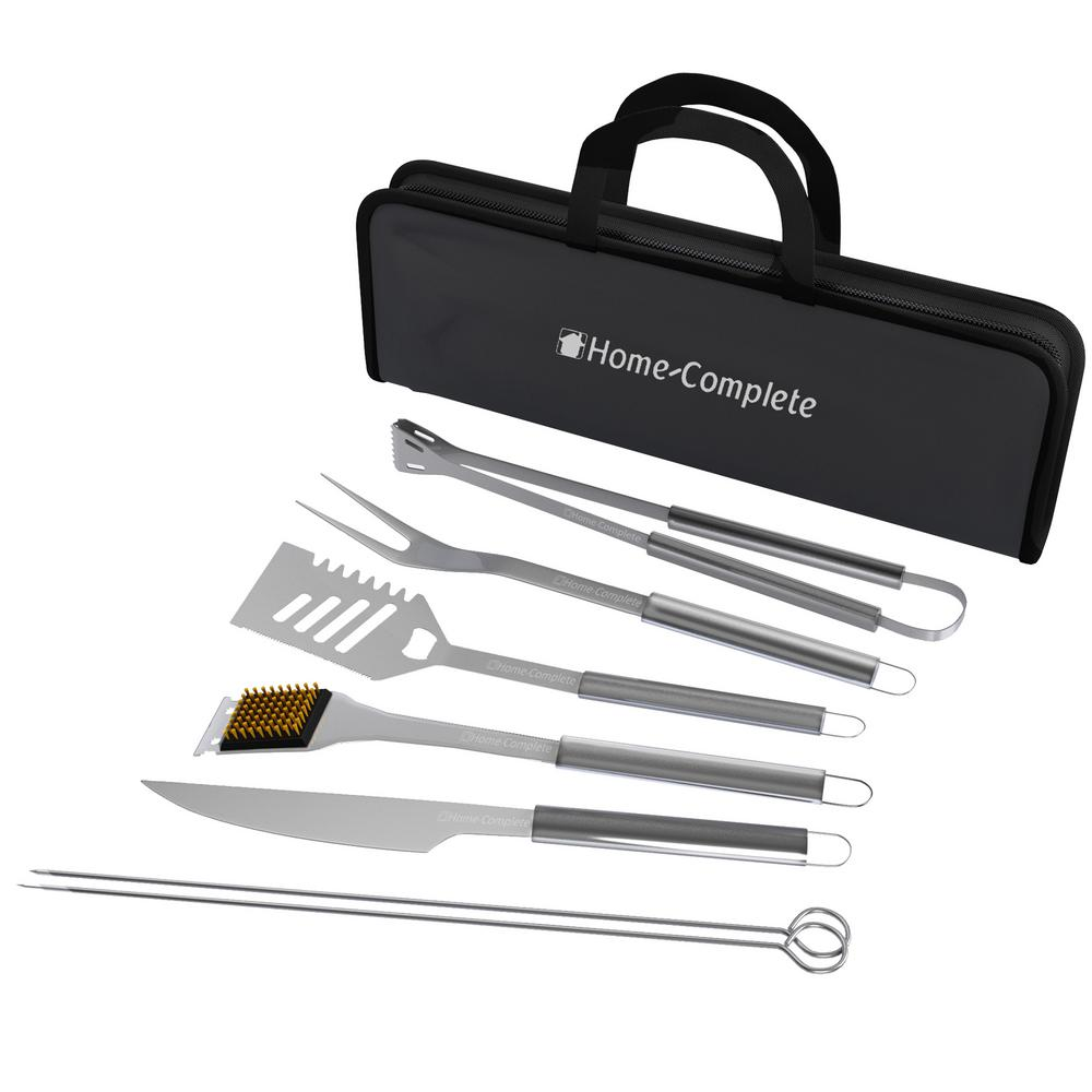7 Piece Stainless Steel Bbq Grill Tool Set