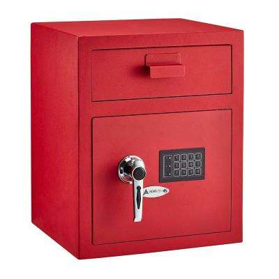 1.1 cu. ft. Steel Digital Depository Safe with Digital keypad, Red