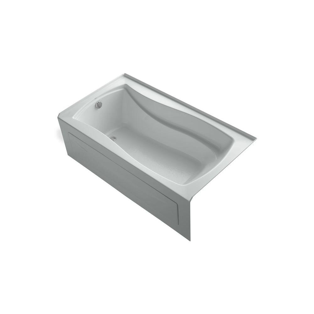 KOHLER Mariposa VibrAcoustic 5.5 ft. Left Drain Soaking Tub in Ice Grey-DISCONTINUED