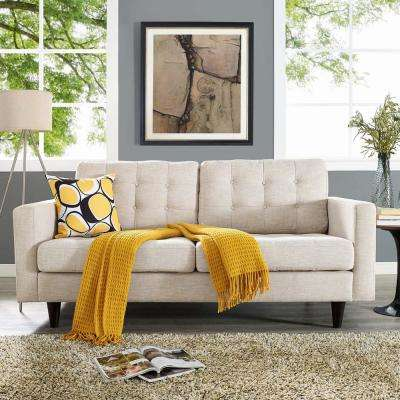 Empress Beige Upholstered Fabric Loveseat
