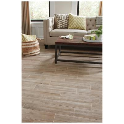 Blonde Wood 6 in. x 24 in. Glazed Porcelain Floor and Wall Tile (14.55 sq. ft. / case)