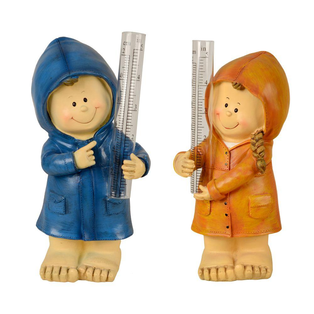 Jack and Jill Fiber Clay Rain Gauge