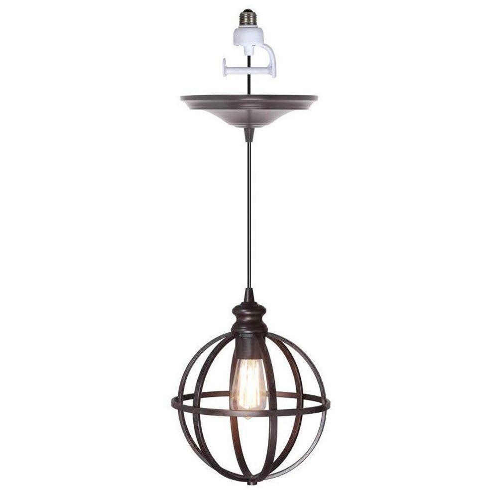 Home Decorators Collection Globe 1 Light Bronze Pendant Conversion Kit 1236500280 The Home Depot