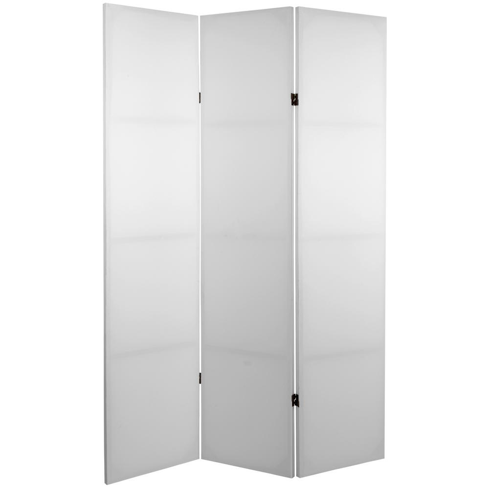 6 ft. White 3-Panel Blank Canvas Room Divider