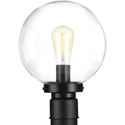 Globe Lamps Collection 1-Light Outdoor Black Post Lamp