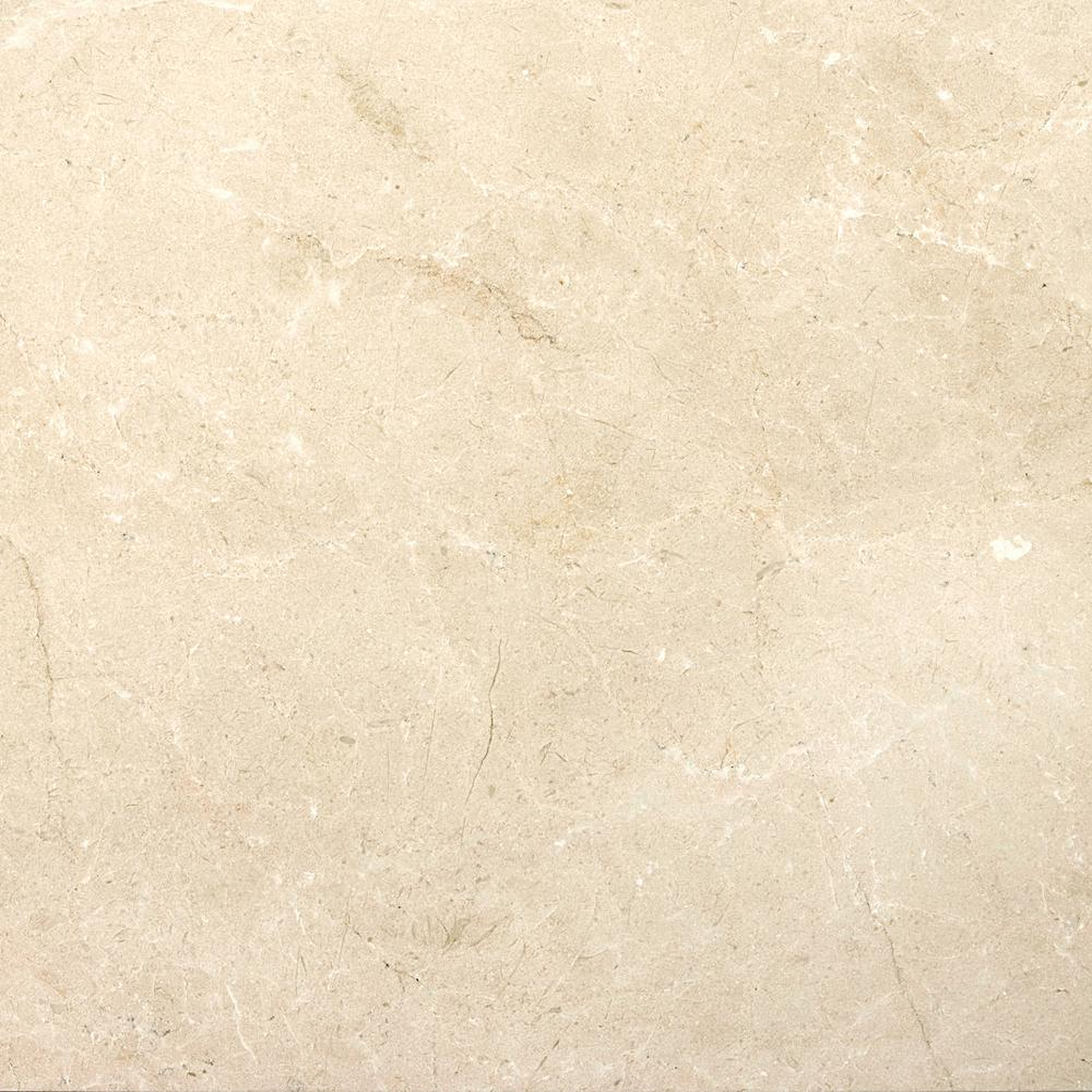 Marble Crema Marfil Plus Honed 12.01 in. x 12.01 in. Marble