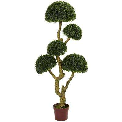 5 ft. UV Resistant Indoor/Outdoor 5-Head Boxwood Artificial Tree