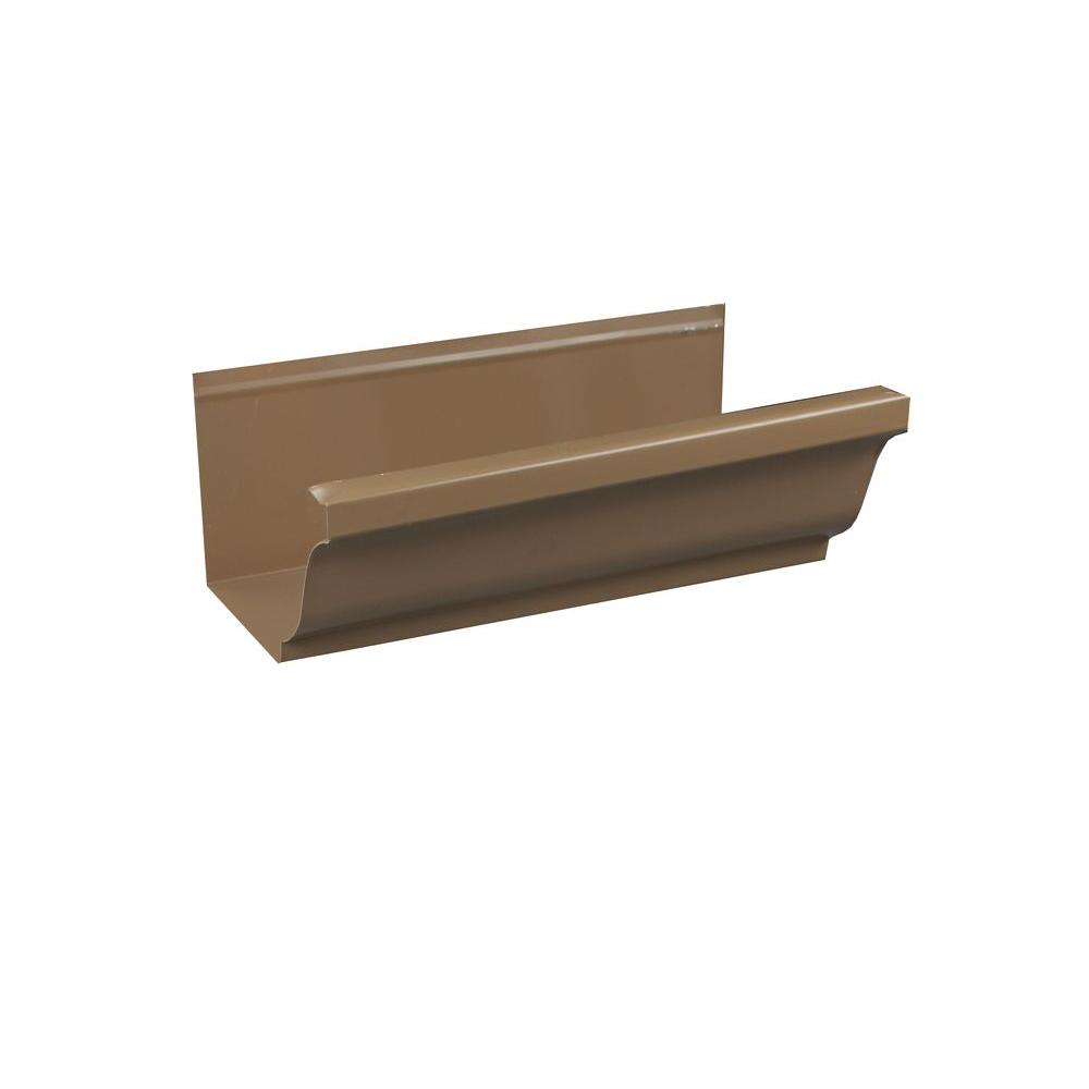5 in. x 8 ft. K-Style Cocoa Brown Aluminum Gutter