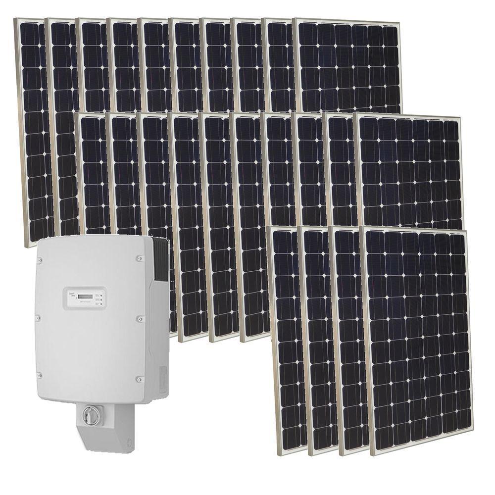 Grape Solar 6,000-Watt Monocrystalline PV Grid-Tied Solar Power Kit-DISCONTINUED