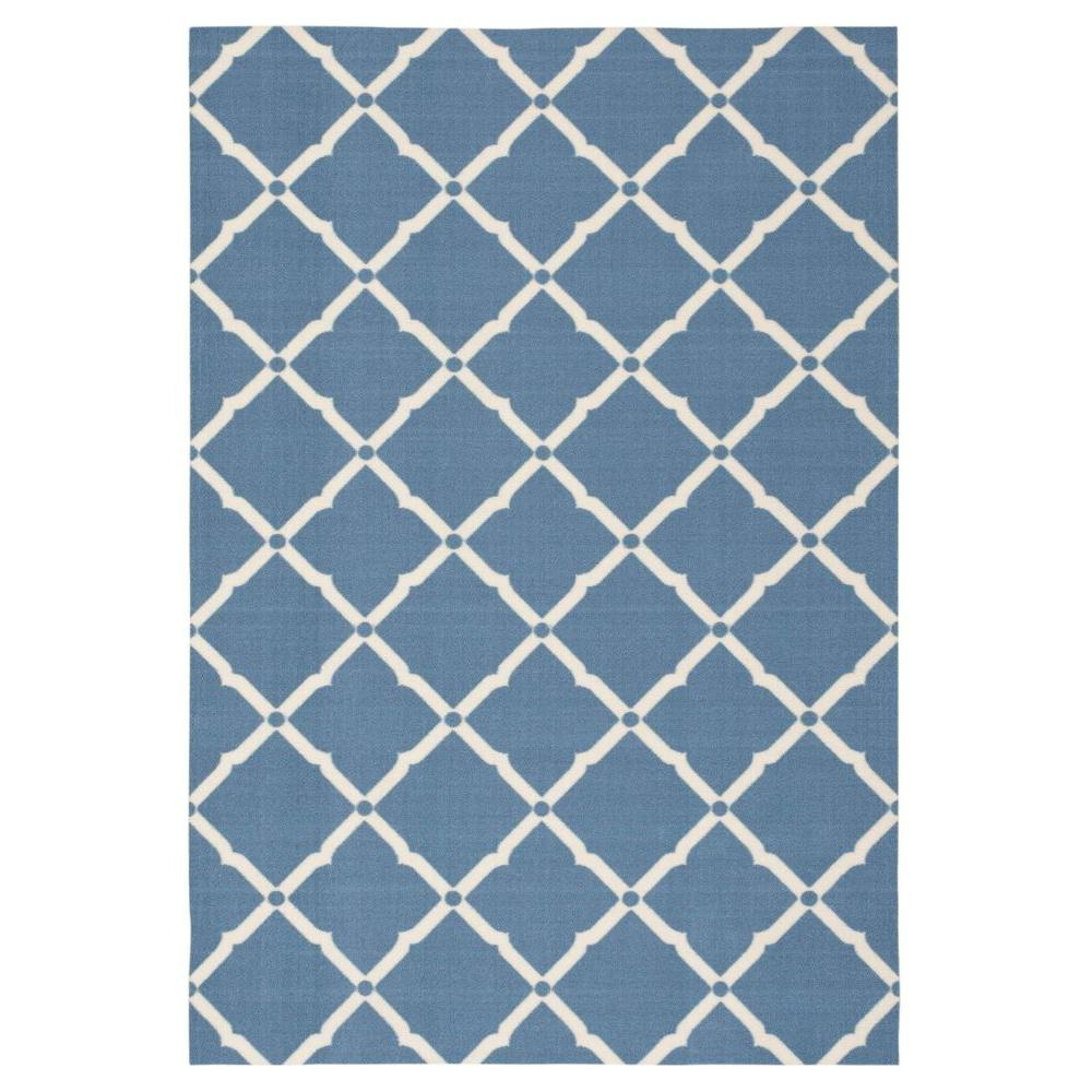 Nourison Milos Blue 10 Ft X 13 Ft Indoor Outdoor Area