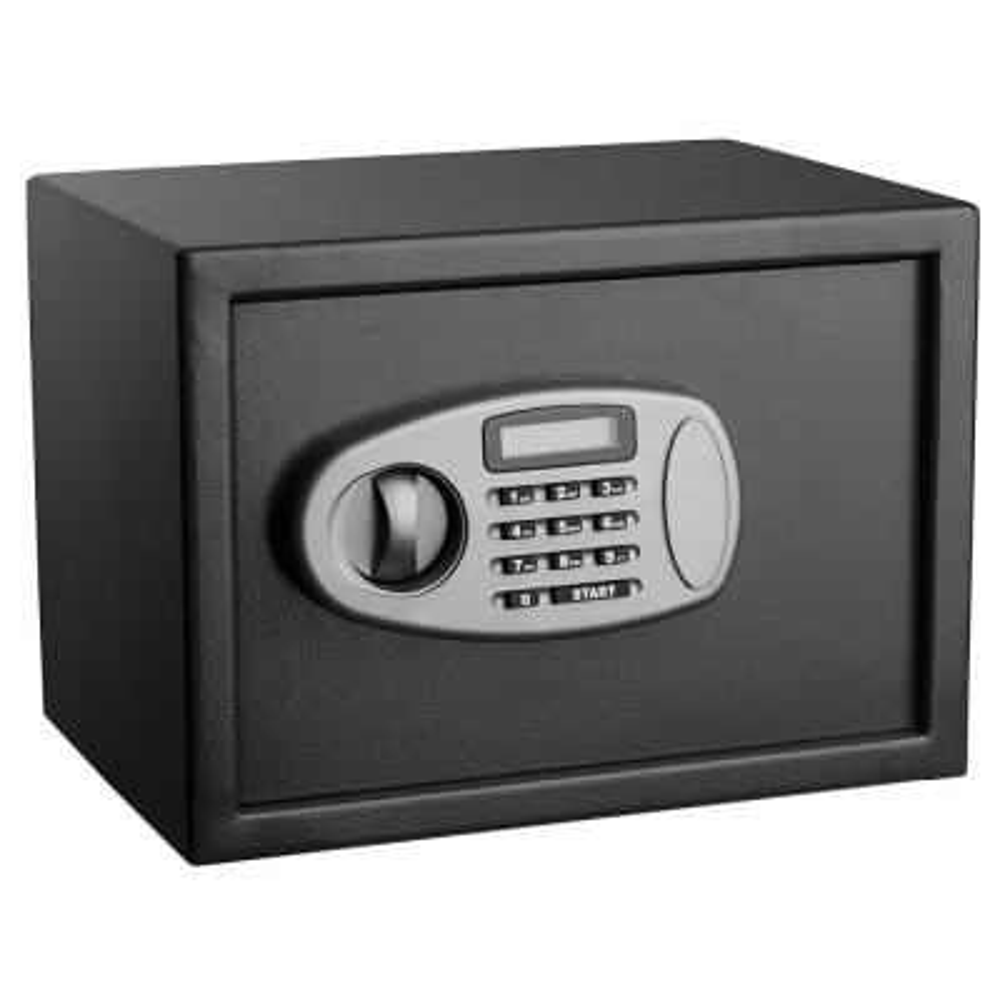 0.5 cu. ft. Steel Security Safe with Digital Lock, Black