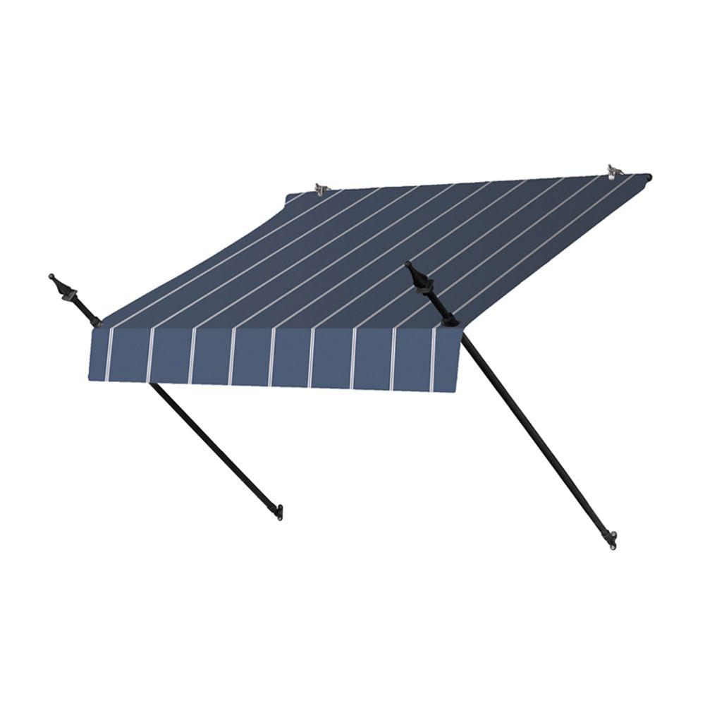 4 ft. Designer Manually Retractable Awning (36.5 in. Projection) in Tuxedo