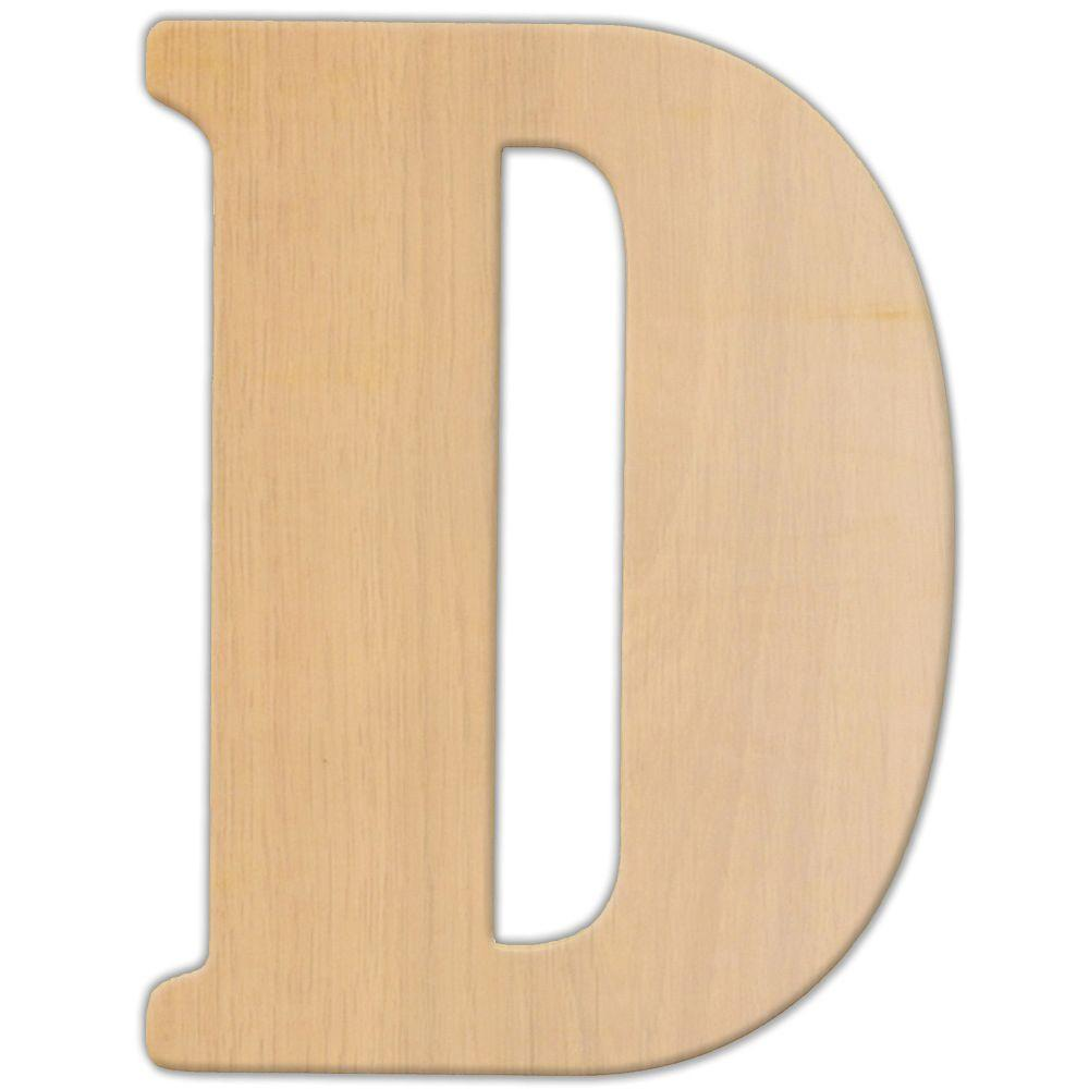 Jeff McWilliams Designs 23 in. Oversized Unfinished Wood Letter (D ...