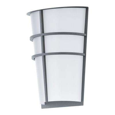 Breganzo Silver Outdoor Integrated LED Wall Light
