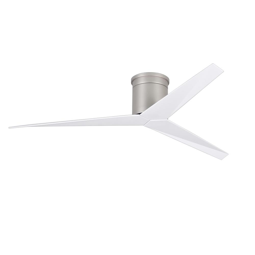 Eliza 56 in. Indoor/Outdoor Brushed Nickel Ceiling Fan With Remote Control