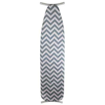 Classic Chic Chevron Cotton Ironing Board Cover, Grey