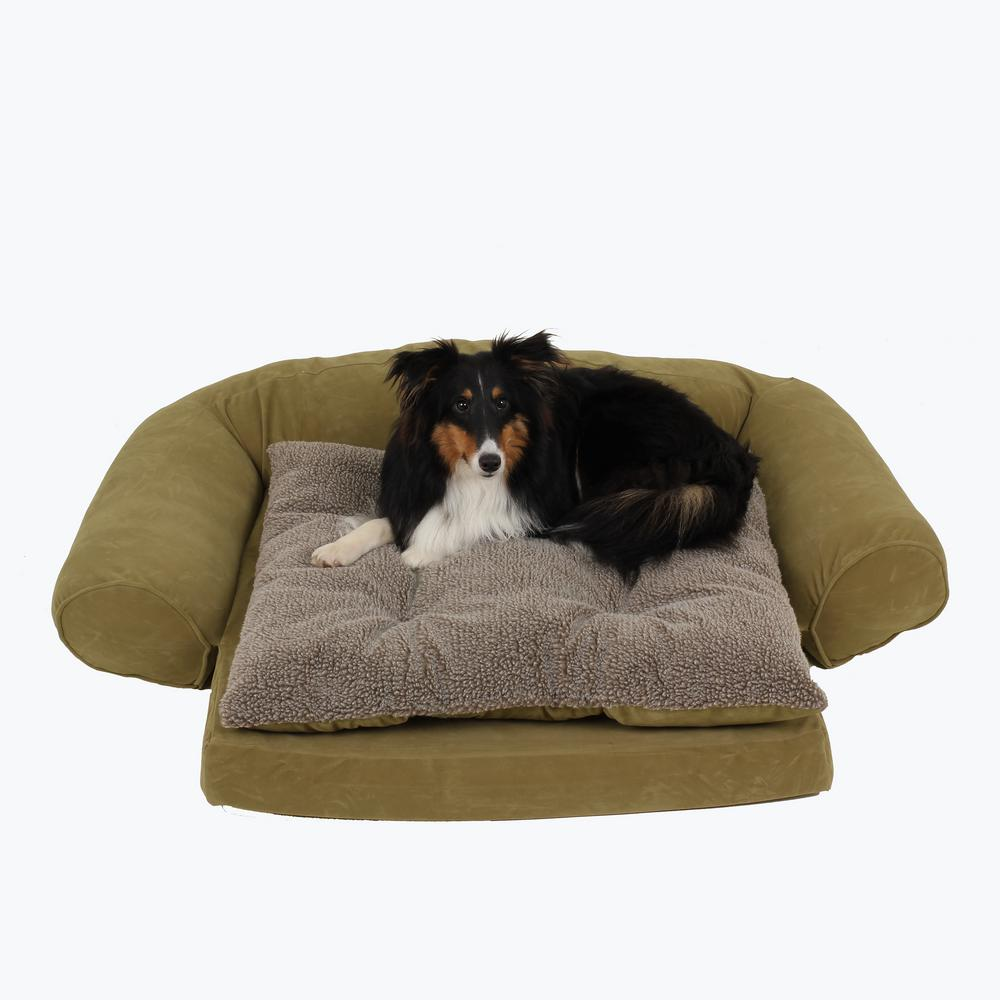 Small Ortho Sleeper Comfort Couch Pet Bed With Removable